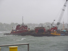 Northeast Gale Sweeps in over Rockland Harbor