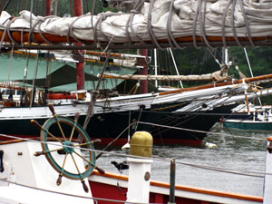 Secure the sails and batten down the hatches...Camden Harbor (Photo by Bob Trapani, Jr.)
