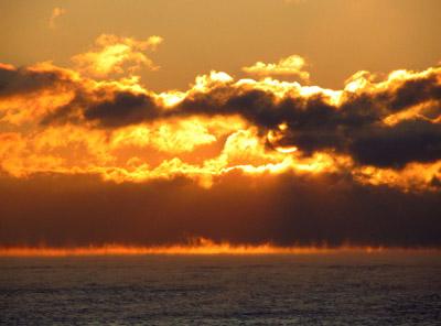 A fiery morning