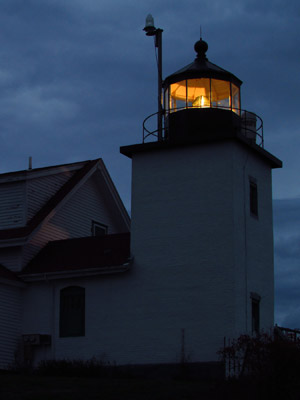 Fort Point Light at night