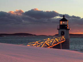 Marshall Point Light - Winter Sunset