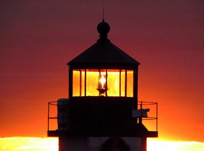 A lantern aglow