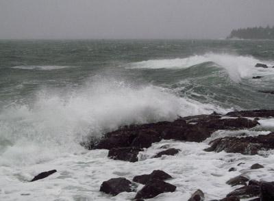 Storm seas