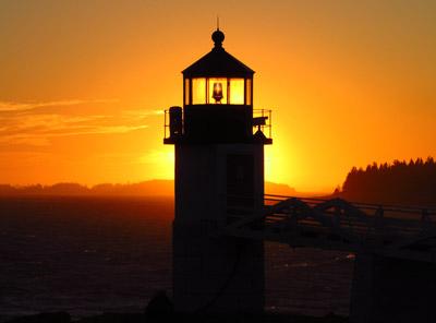 Marshall Point Light at Sunset