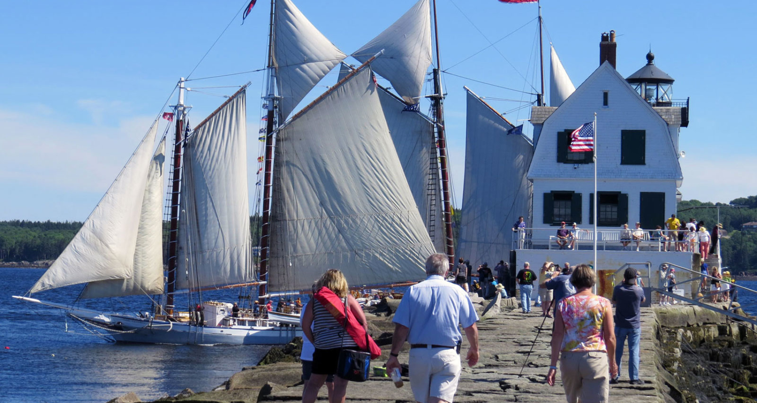 Windjammers at Rockland Breakwater