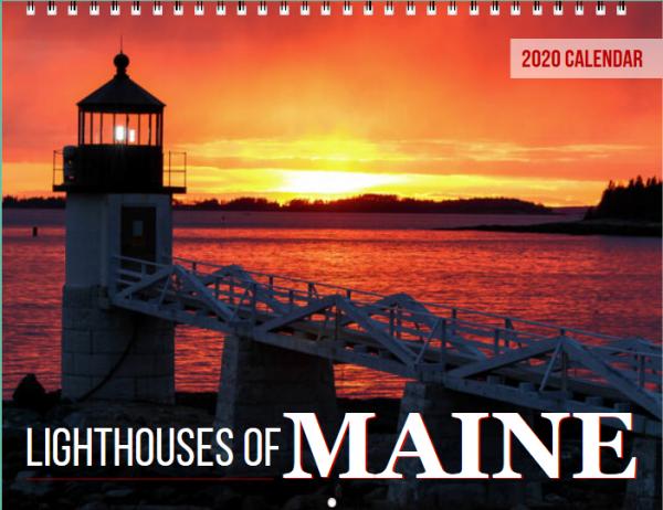 2019 Lighthouses of Maine Calendar Cover