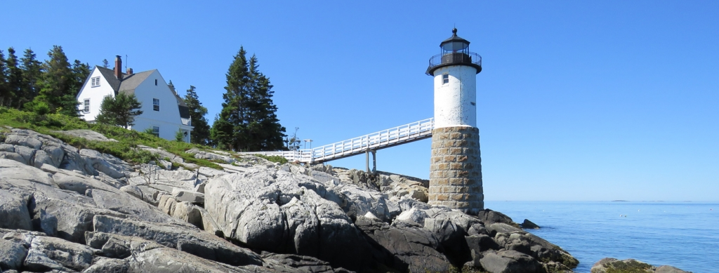 Maine Lights Today - Isle au Haut Lighthouse