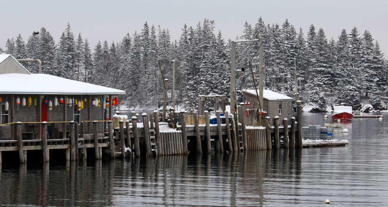 Owls Head Harbor in Winter