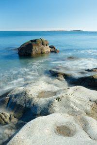 The rocky coast of the Schoodic Peninsula