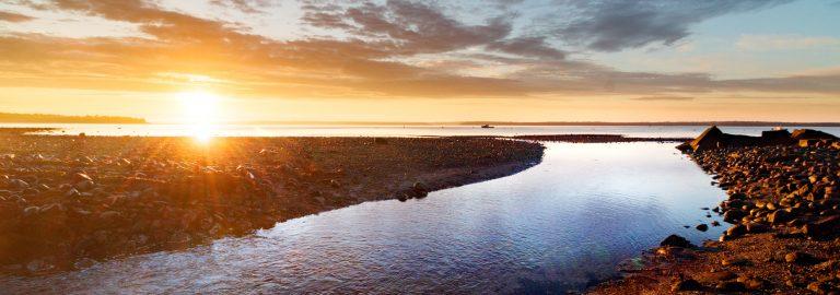 Sunrise over Lincolnville Beach