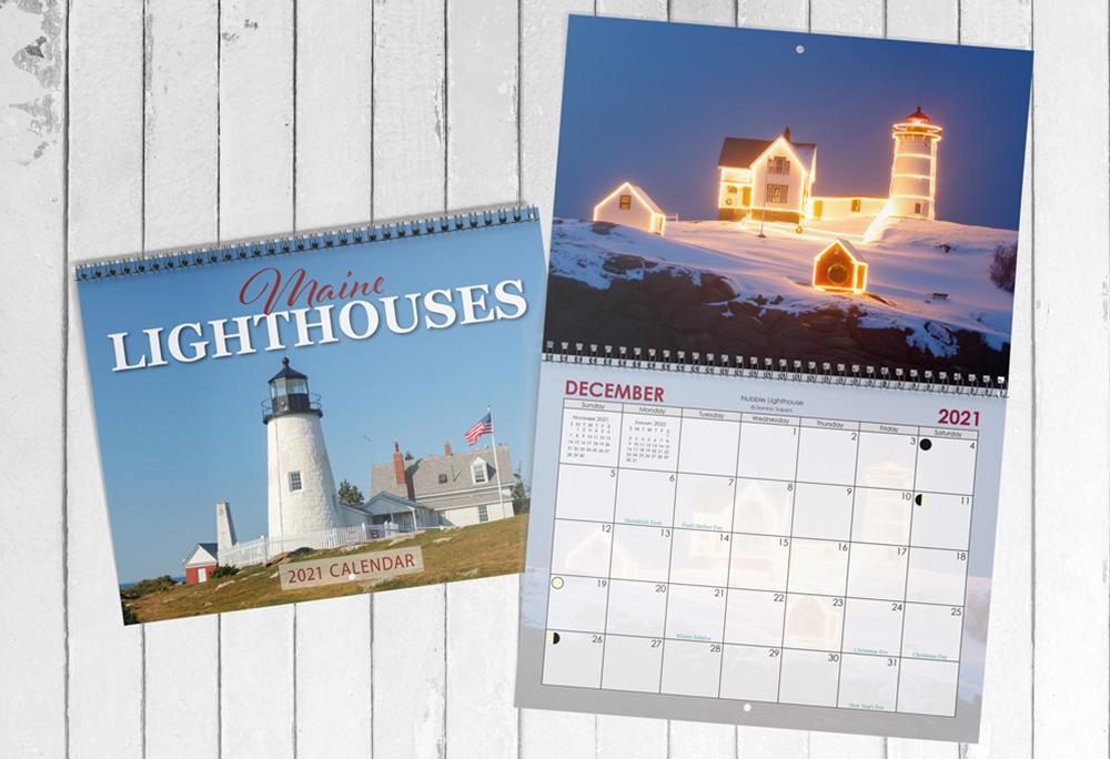 2021 Calendar Maine Lighthouse