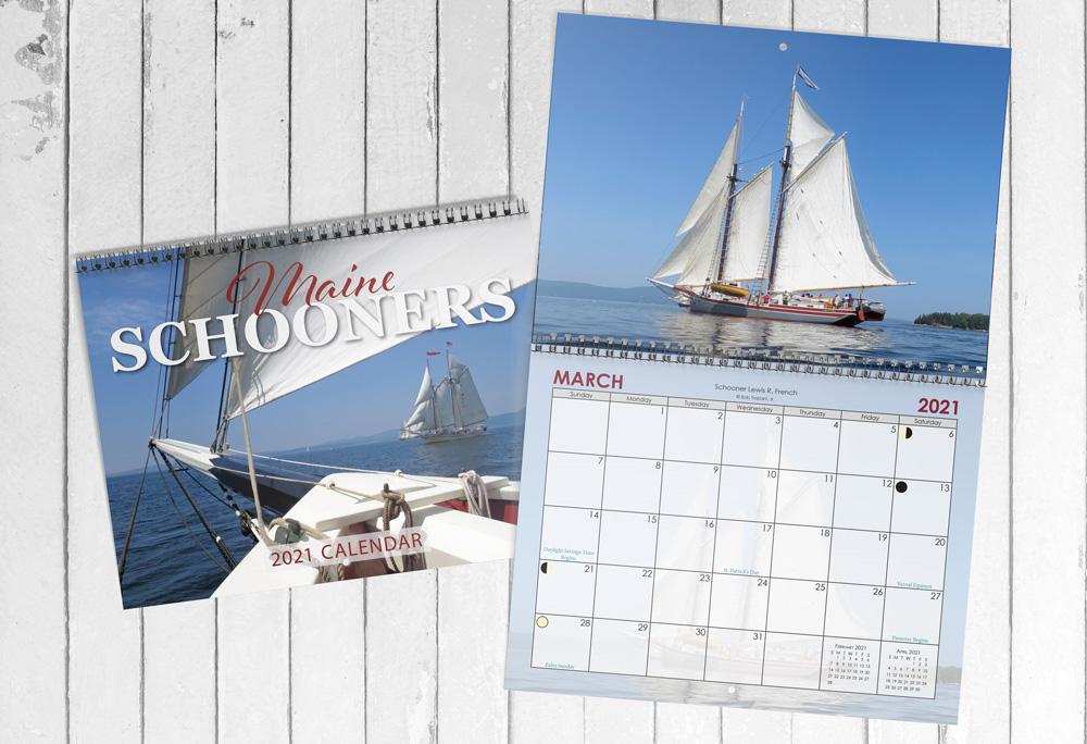 2021 Calendar Maine Schooner