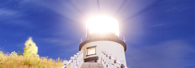 Owls Head Lighthouse at night