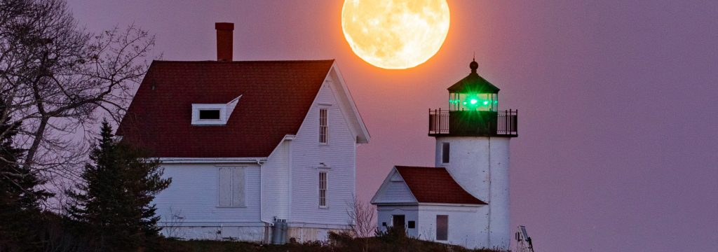 Moonrise over Curtis Island Lighthouse